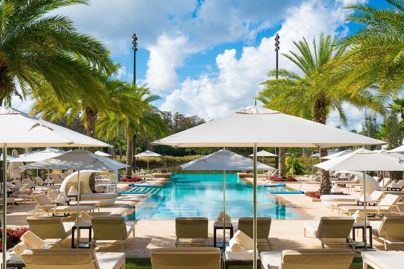 The adults-only pool at Four Seasons Resort Orlando at Walt Disney World Resort.