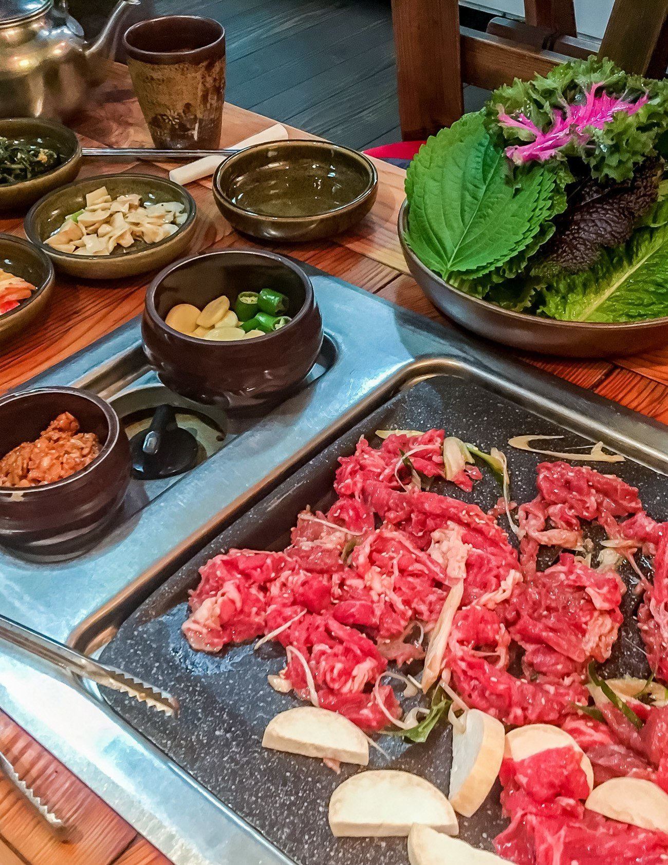 A delicious Korean barbecue in Seoul's Insadong neighborhood.