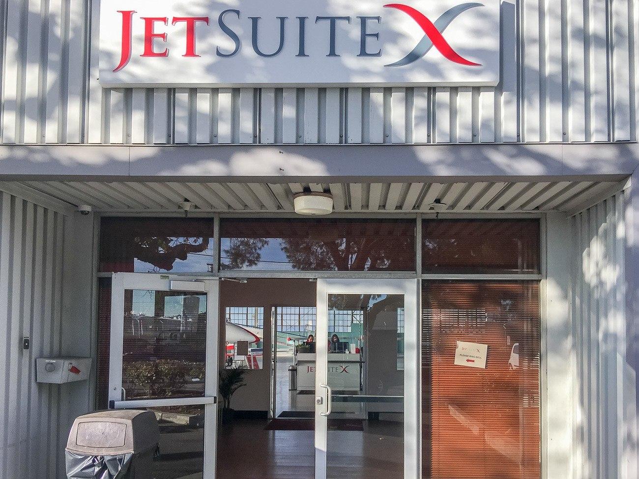 JetSuiteX at Burbank Airport's Hangar 2.