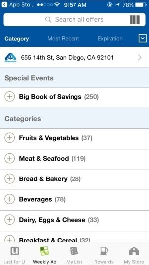 Track Albertsons Gas Rewards and find nearby gas stations with their mobile app.