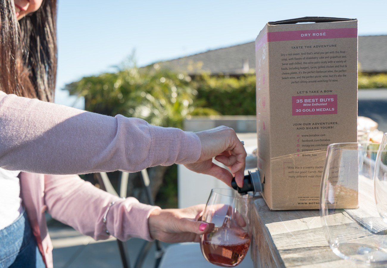 Bota Box wine stays fresh in the refrigerator for up to a month due to state-of-the-art packaging.