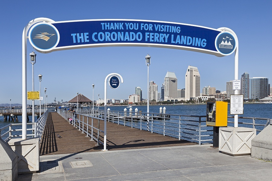 Take the ferry between Coronado and San Diego