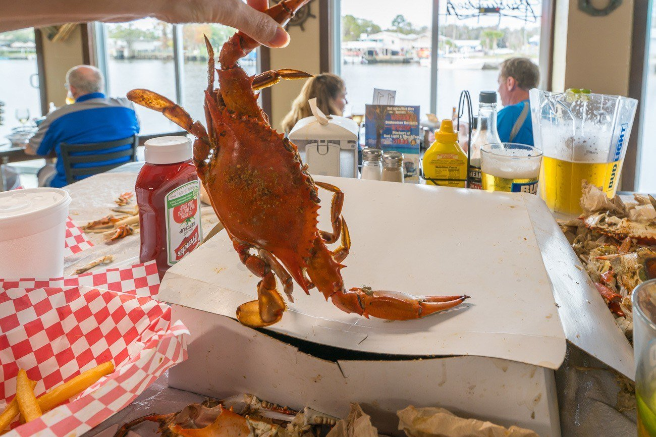 The Crab Plant restaurant in Crystal River, Florida.
