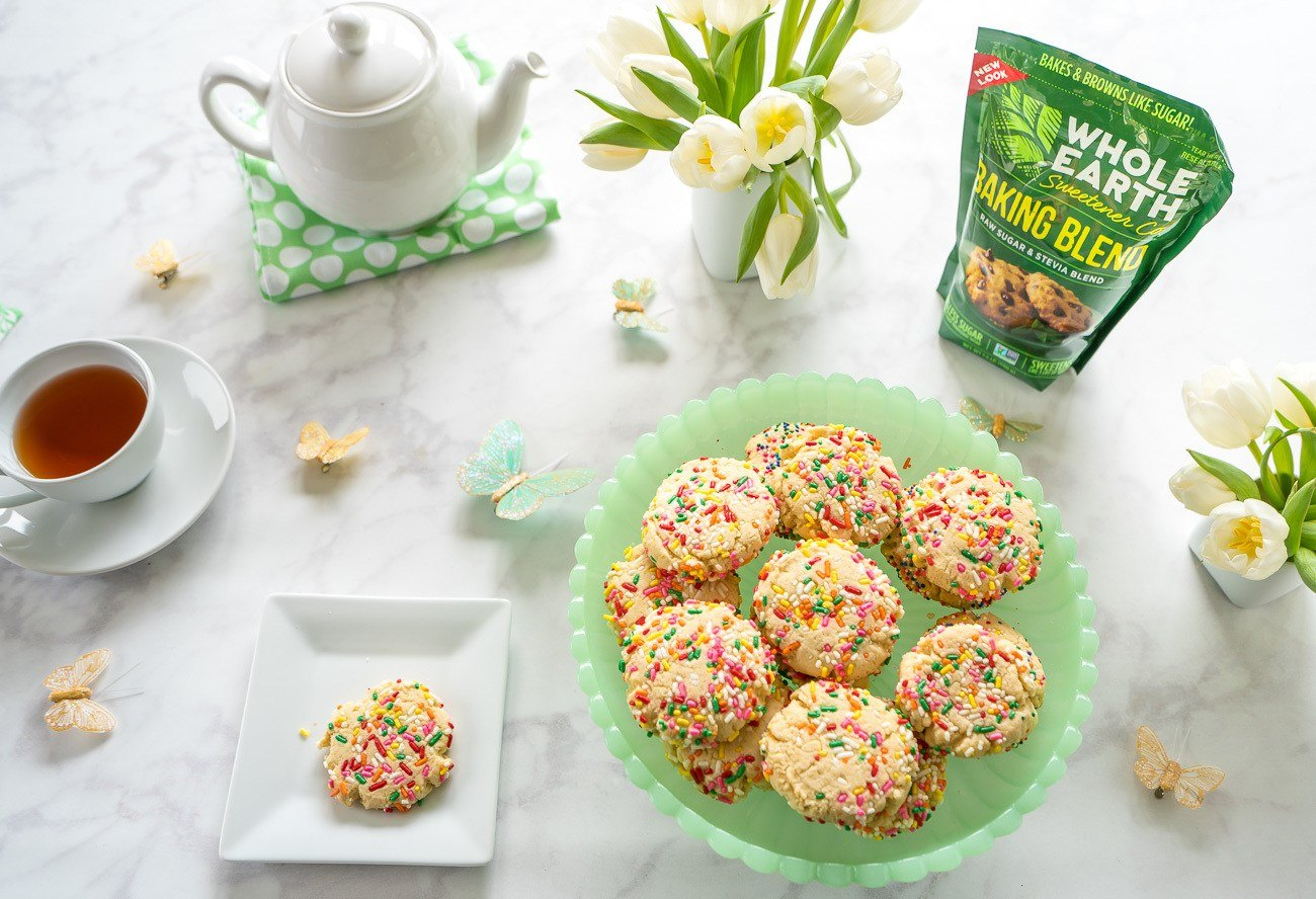 A recipe for sugar cookies with less sugar in them.