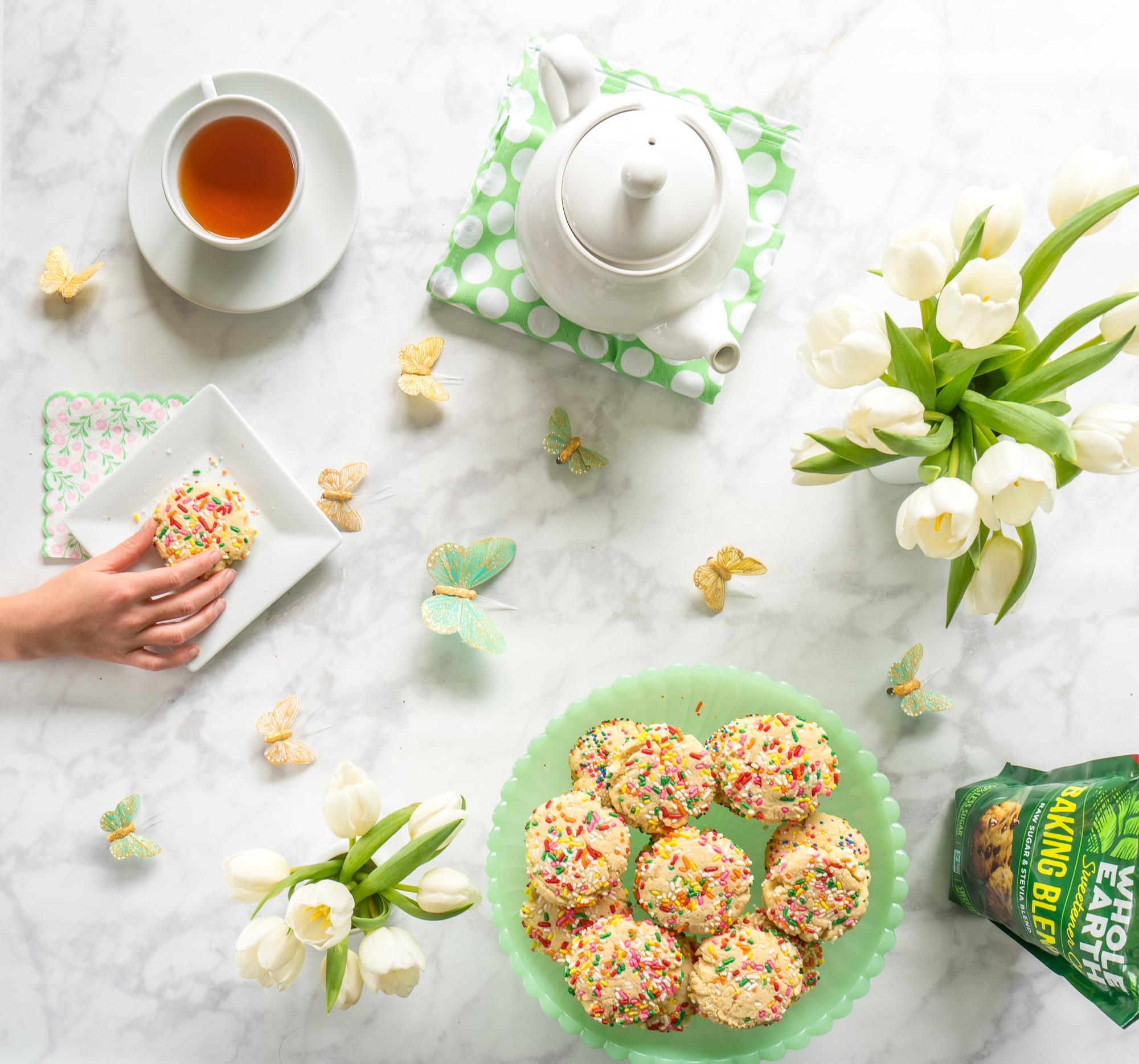 A recipe for lower calorie sugar cookies that are perfect for spring entertaining.