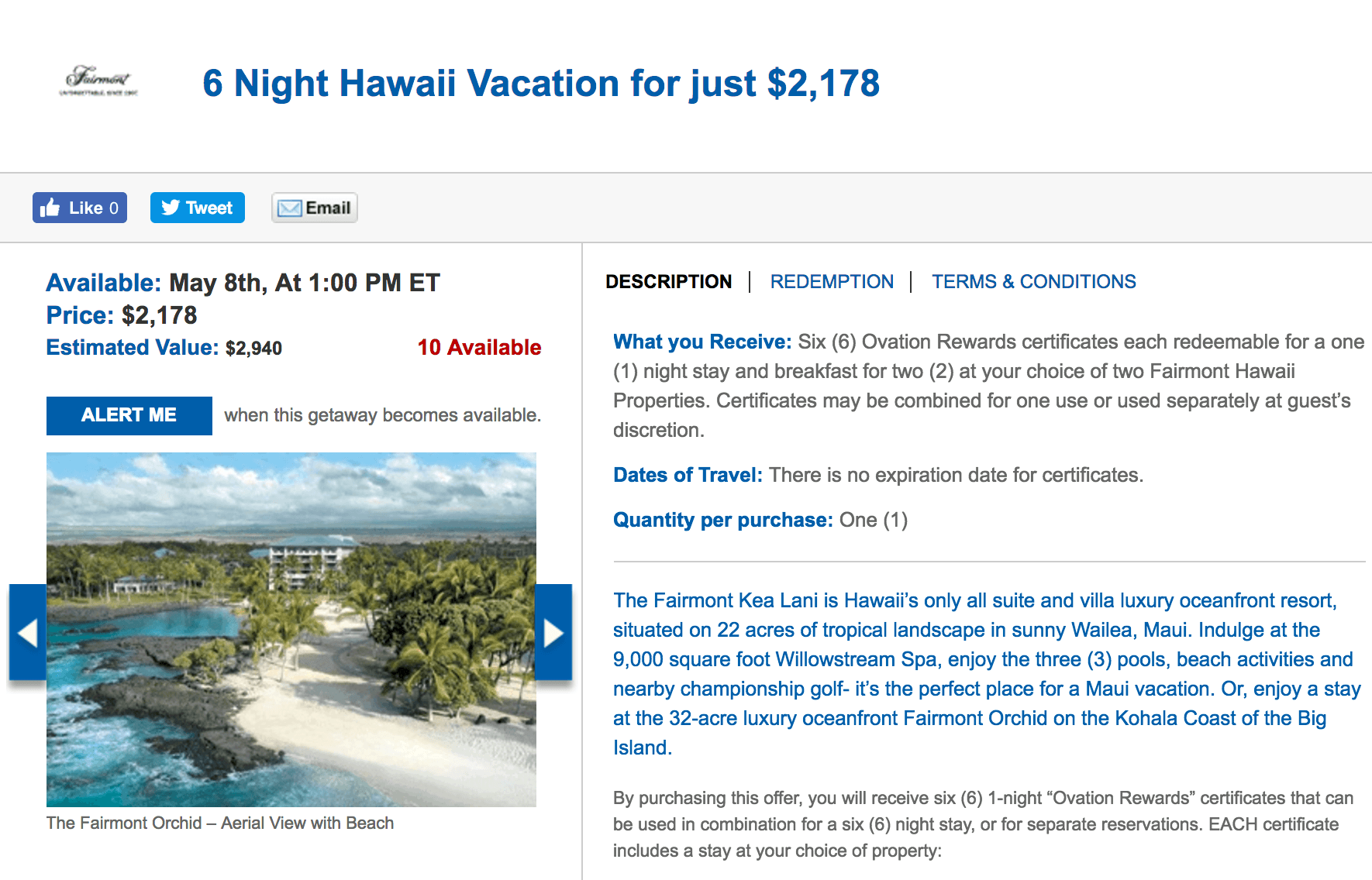 Deals on a Fairmont Resorts Hawaii vacation.