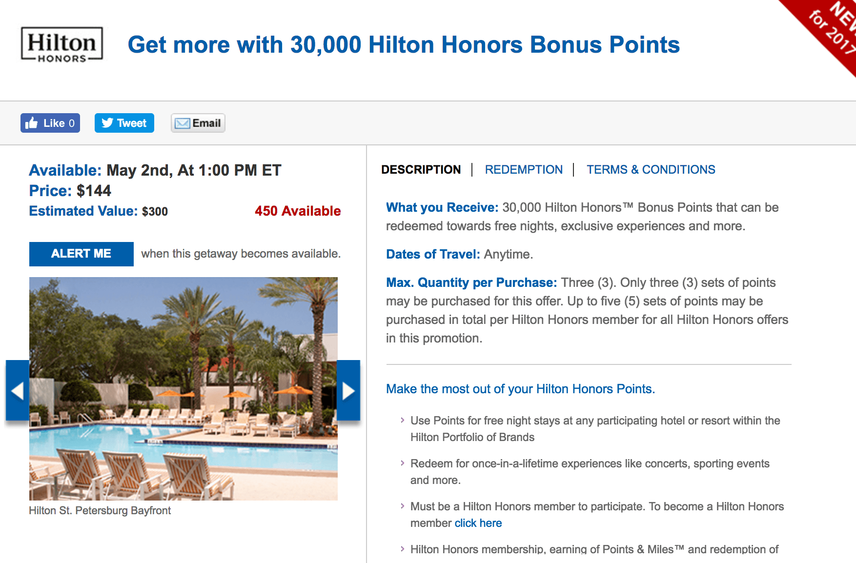 Buy Hilton HHonors points at a discount.