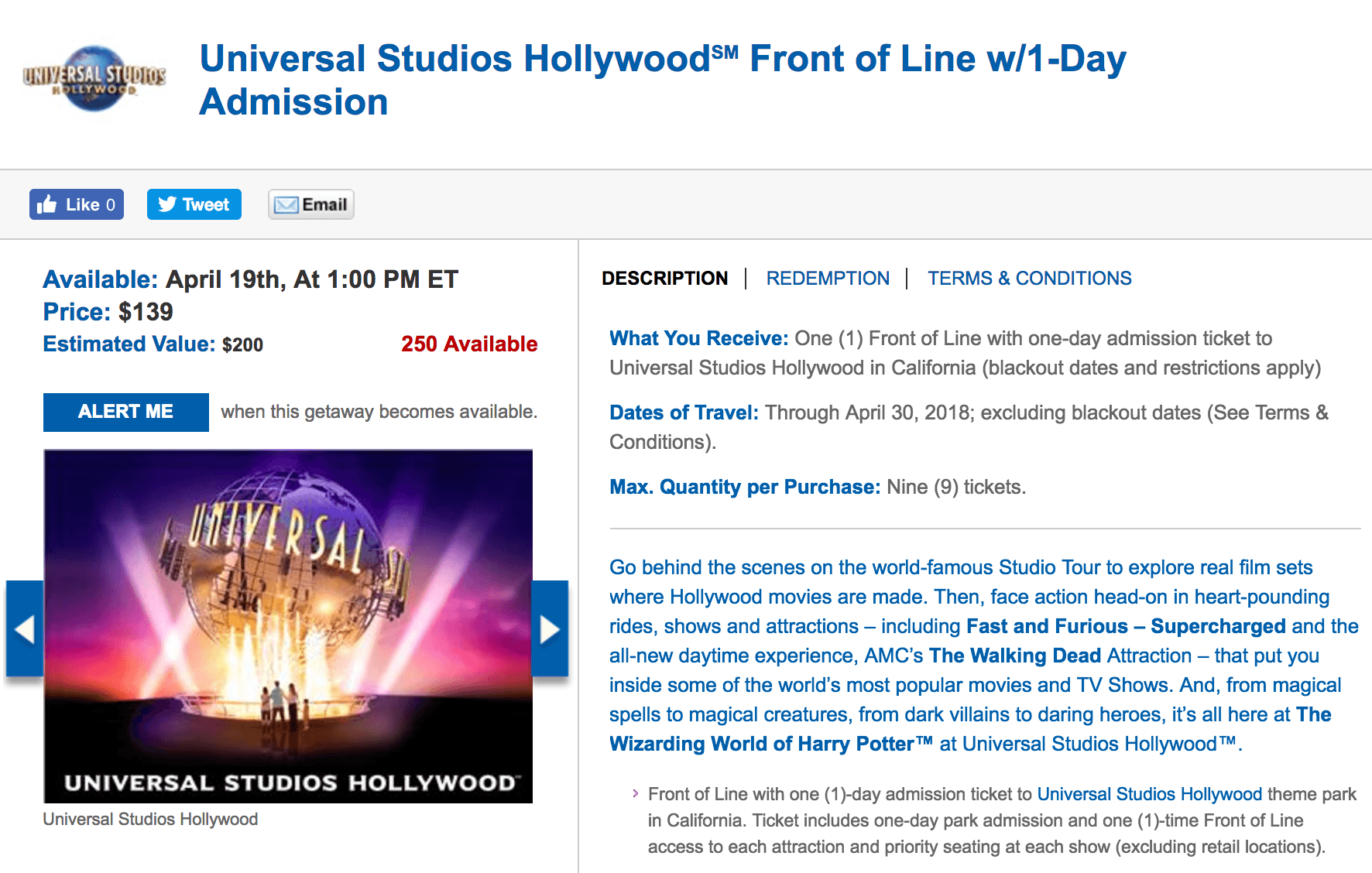 Discounted front-of-the-line passes to Universal Studios Hollywood