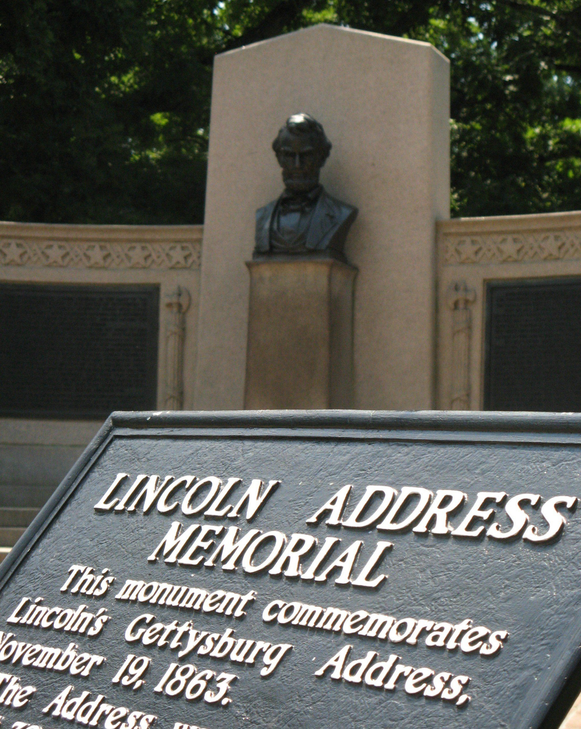 Where Lincoln gave the Gettysburg Address