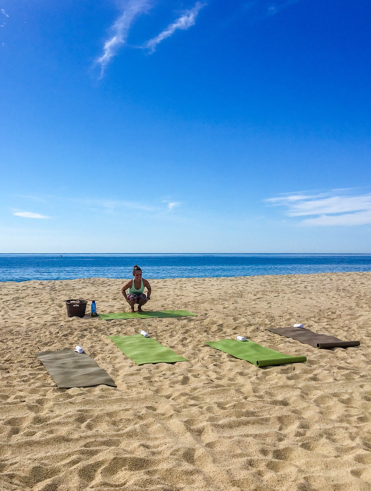 Try a private beach yoga class on your next visit to San Jose del Cabo.