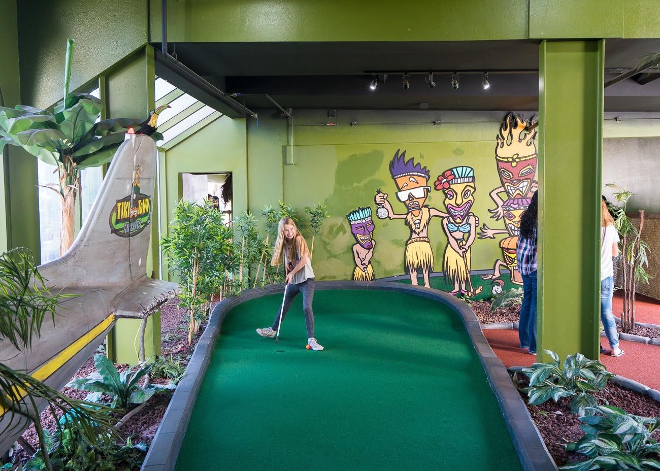 Miniature golf at Belmont Park in San Diego.