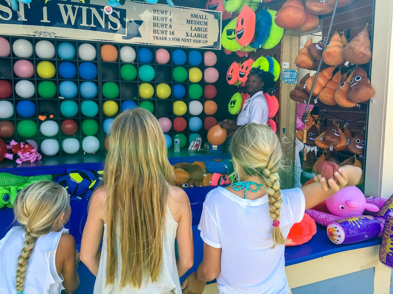 Play carnival games at Belmont Park in San Diego.