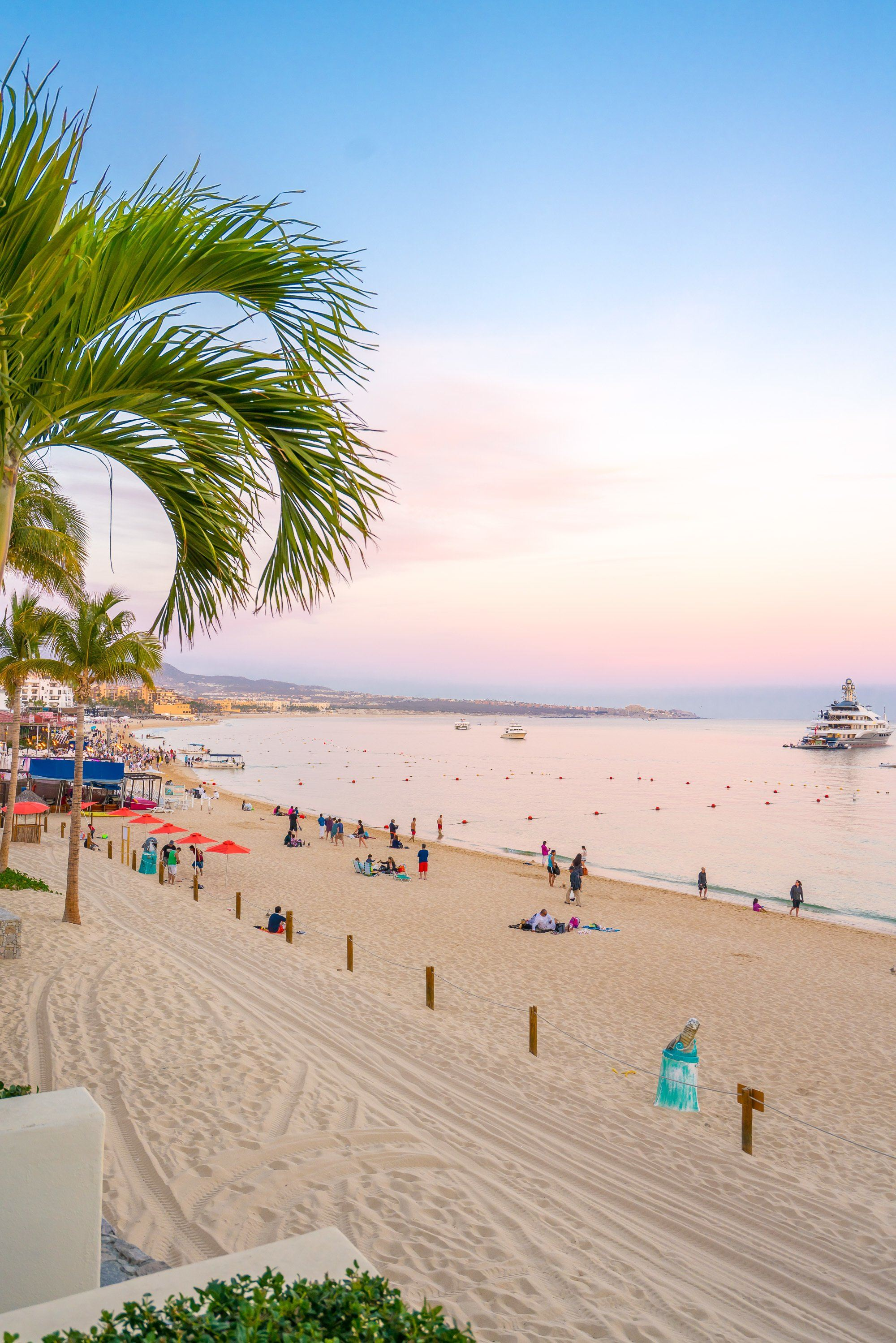 The beach in Cabo San Lucas, Mexico.