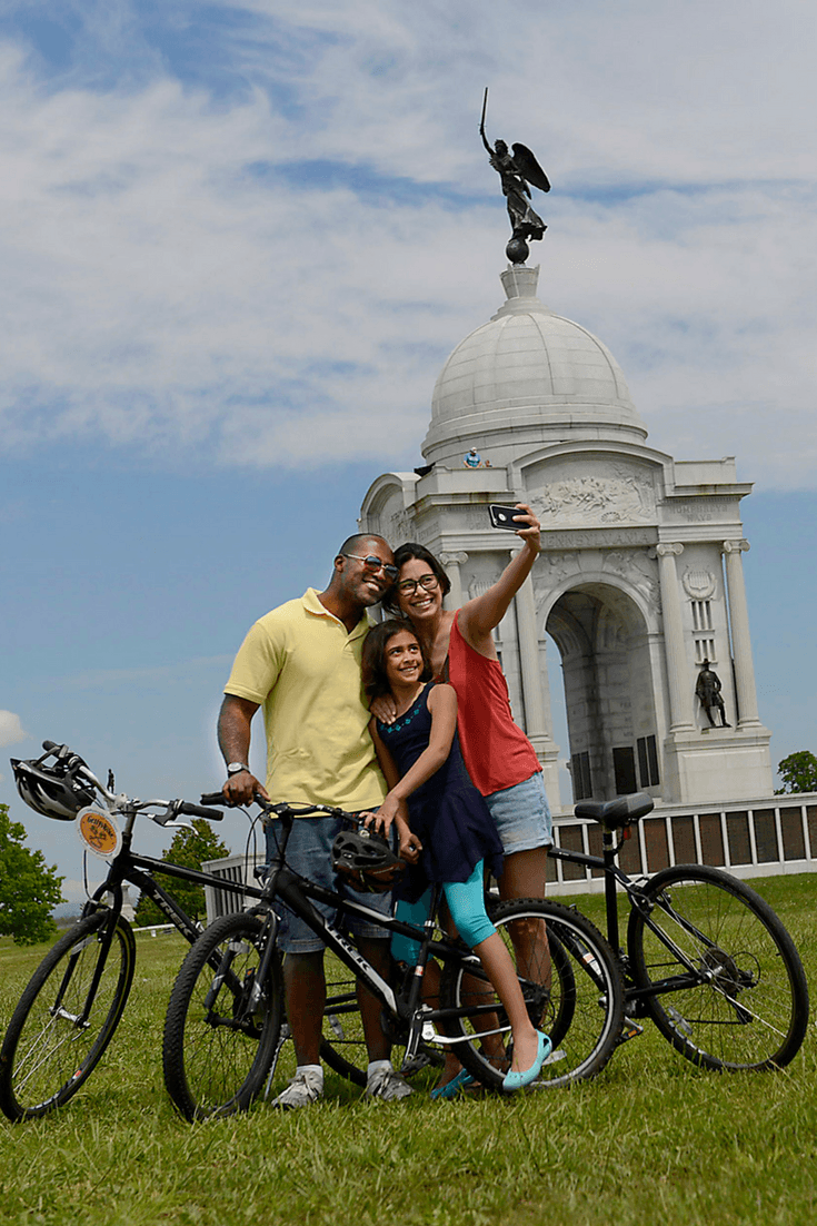 A family bike tour is a very popular thing to do in Gettysburg, PA
