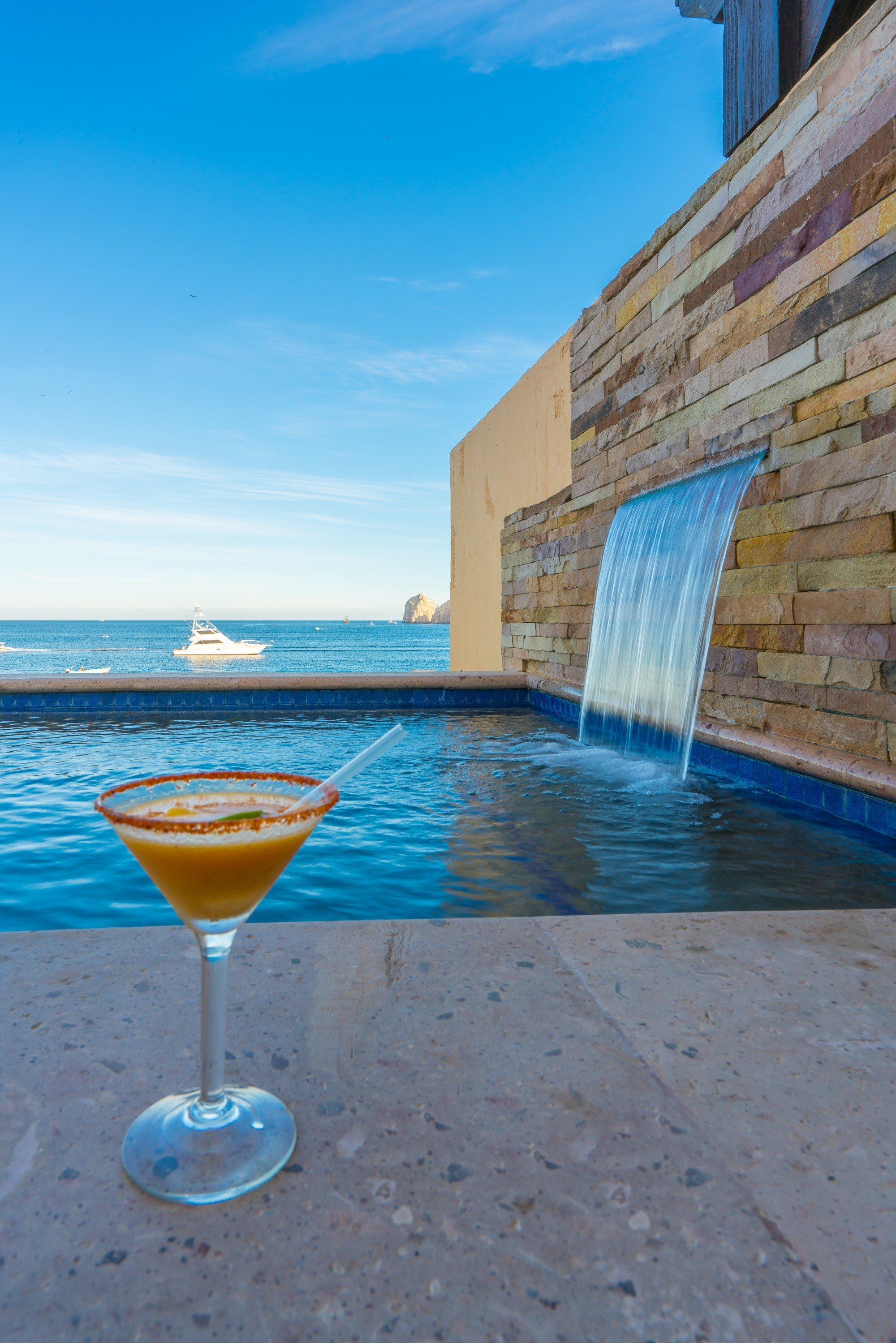 A mango chipotle margarita at Hacienda Beach Club and Residences in Cabo San Lucas, Mexico.