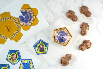 How to make Harry Potter chocolate frogs, cards and boxes at home.