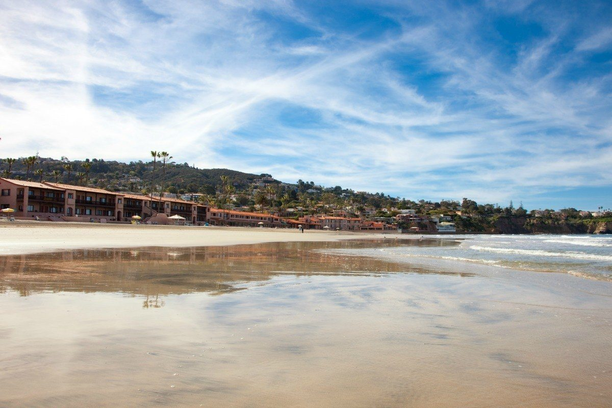 The La Jolla Beach and Tennis Club has one of the state's only private beaches.