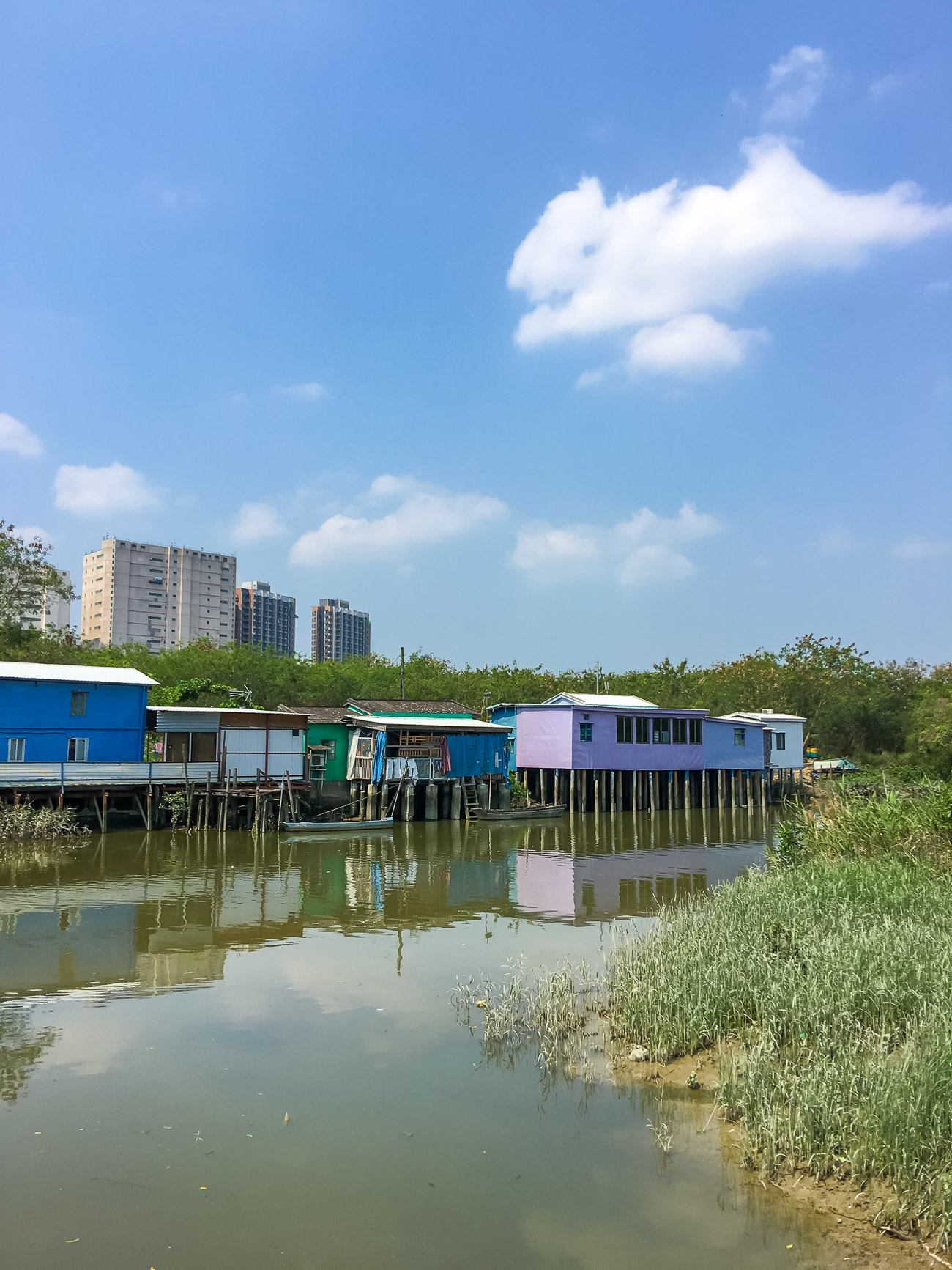 Stilt houses in Nam Sang Wai, located in Hong Kong's New Territories.