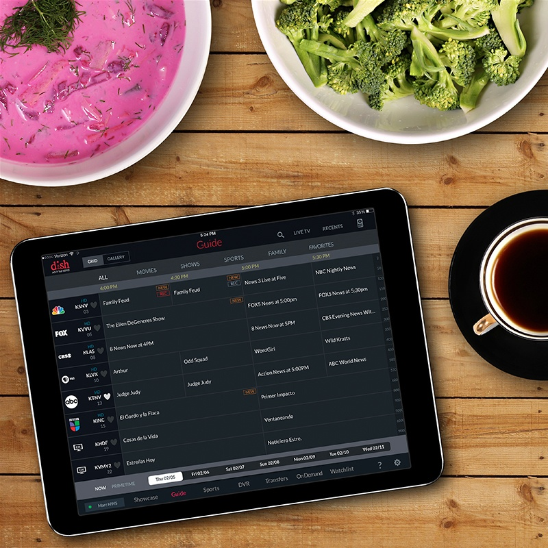 DISH Anywhere allows travelers and home users to watch live and DVR'd shows from anywhere.