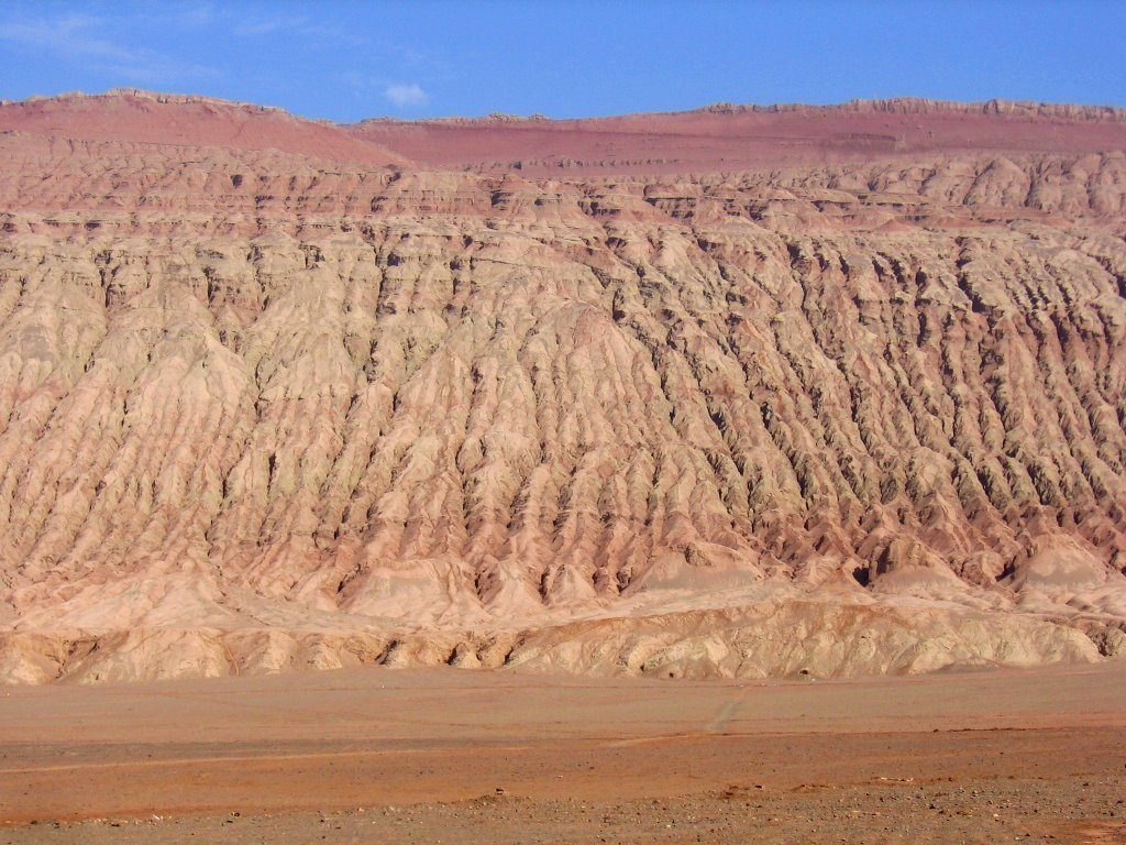 The Flaming Mountains in Turpan, China
