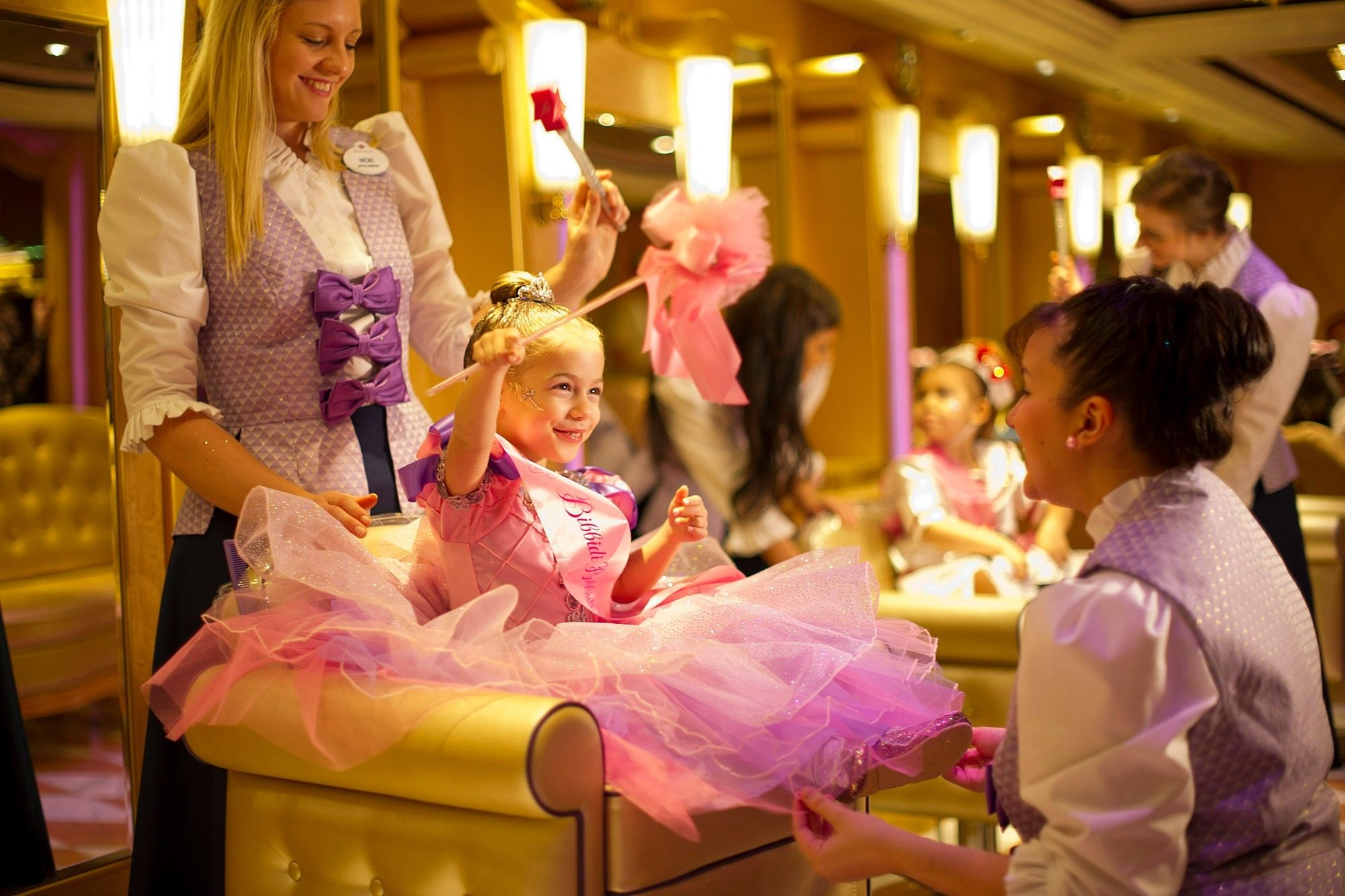 The Bibbidi Bobbidi Boutique on the Disney Wonder ship, which sails from San Diego.