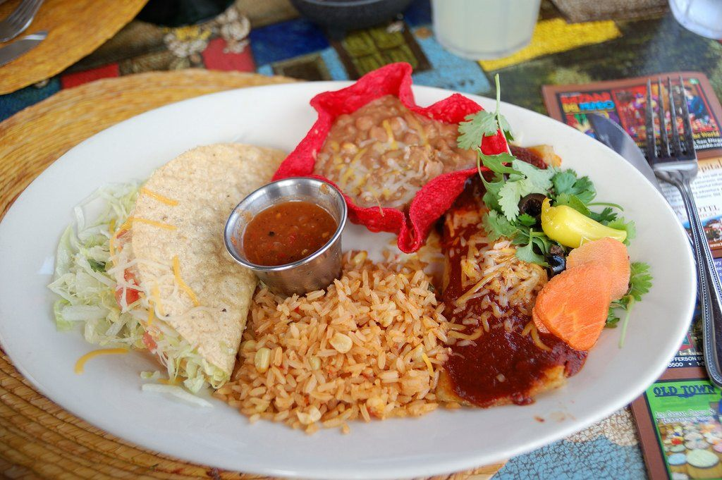 Mexican food in San Diego's Old Town.