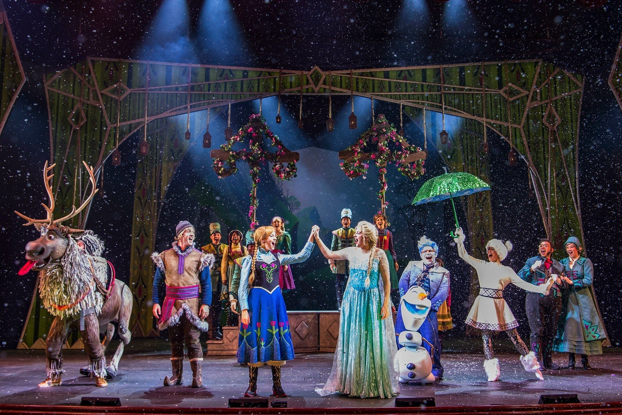 Frozen, A Musical Spectacular is a show on the Disney Wonder ship which is the Disney cruise departing San Diego.