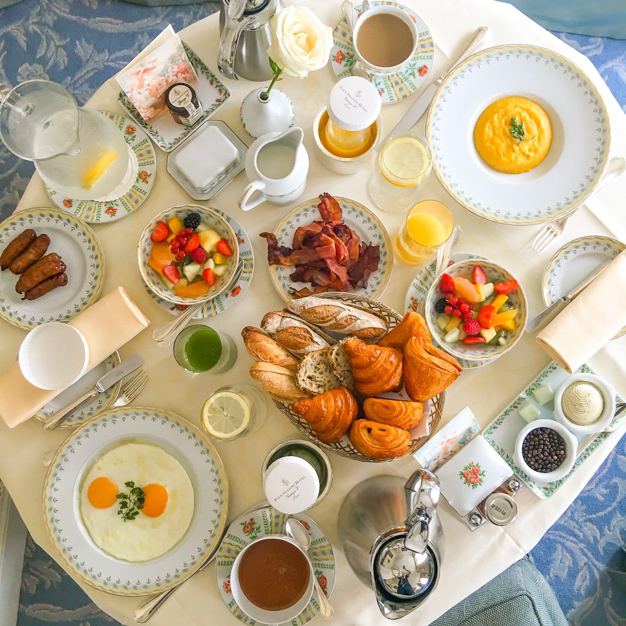 Breakfast at Four Seasons Hotel George V, Paris