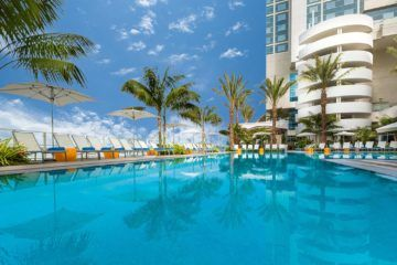 The Hilton San Diego Bayfront has one of the best hotel pools in San Diego.