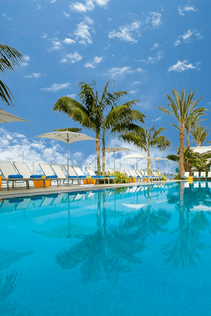Hilton Bayfront San Diego has a salt water swimming pool overlooking the bay.