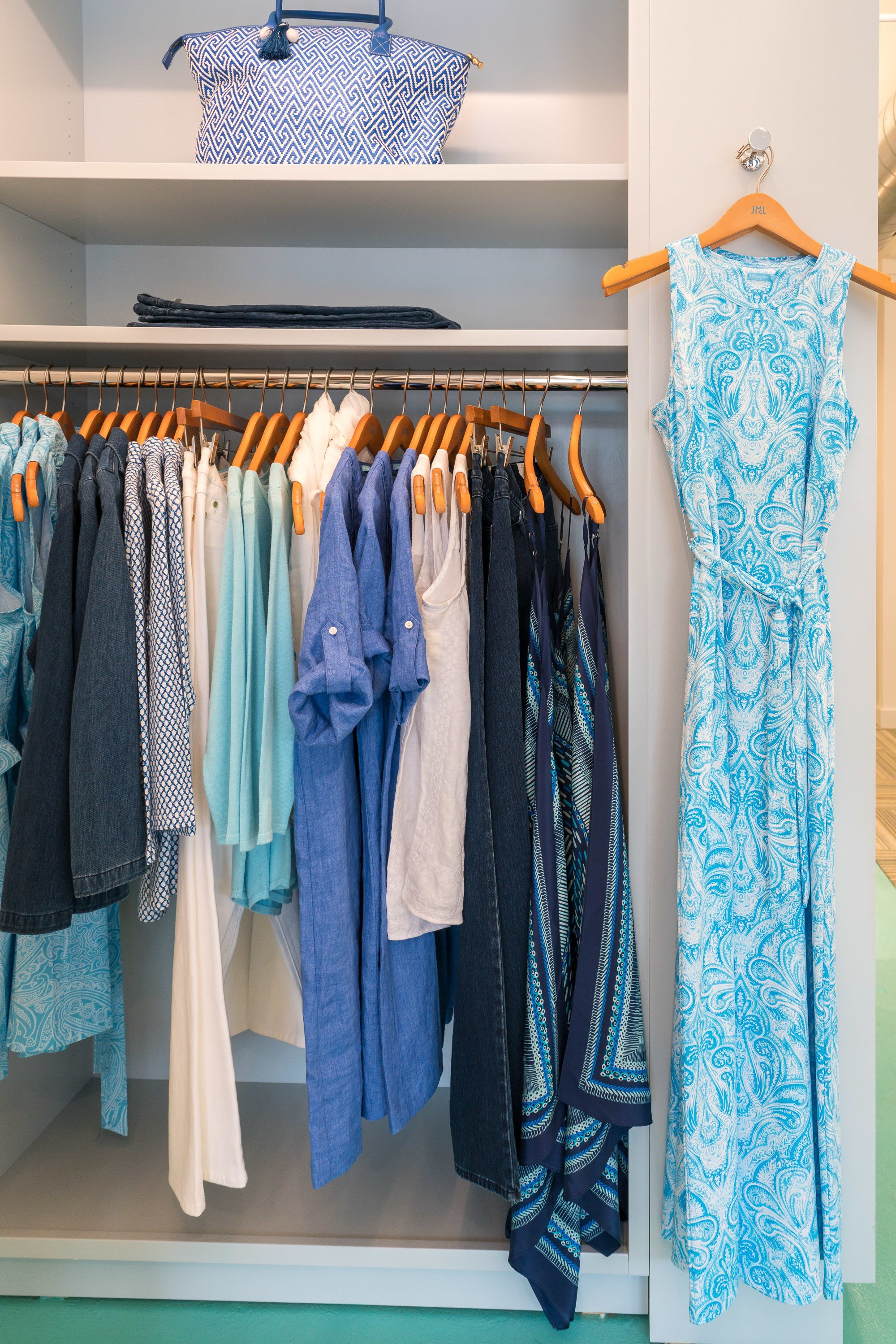 A peek inside the J.McLaughlin store in La Jolla.