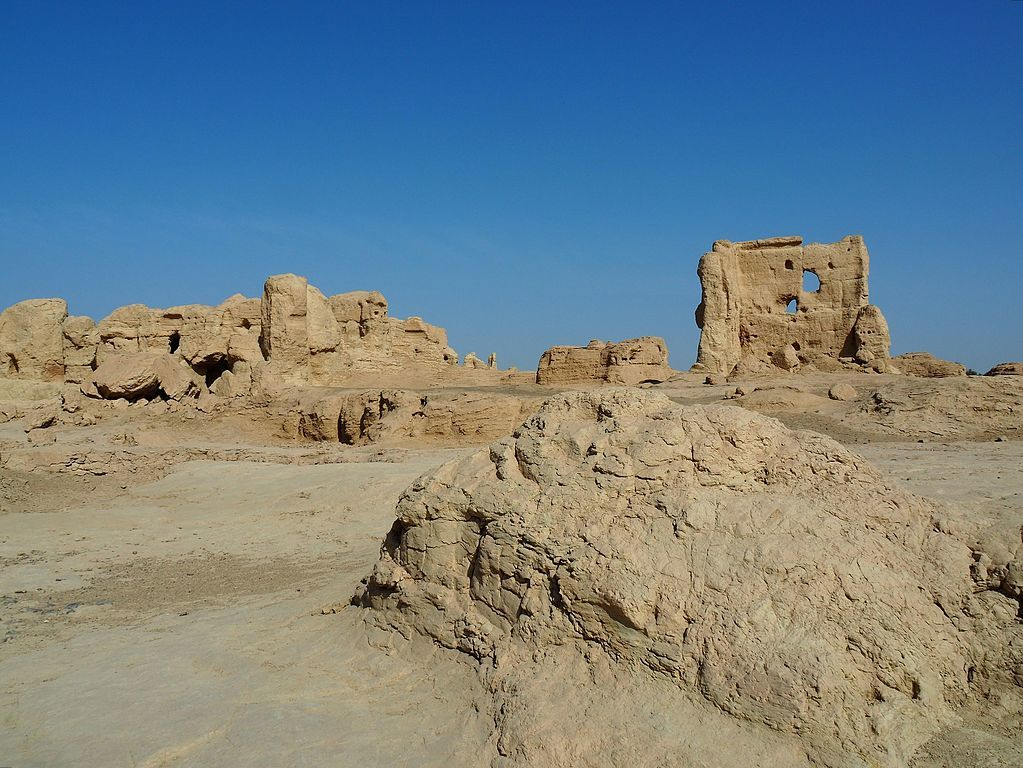 The ancient city of Jiaohe is the top attraction in Turpan, China.