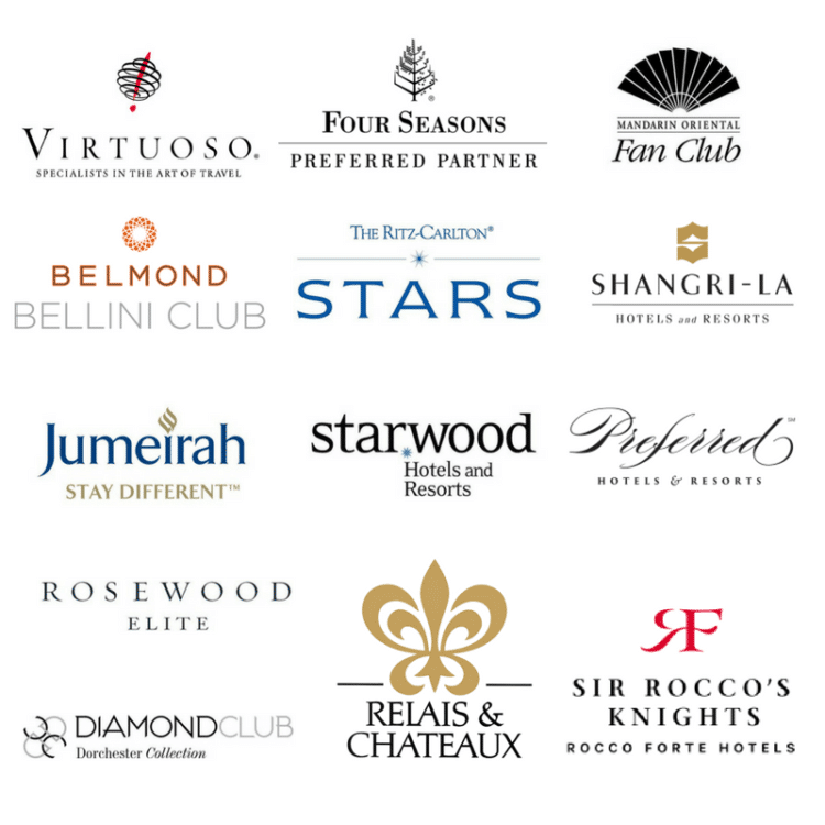 Luxury hotel partners of Worldview Travel.