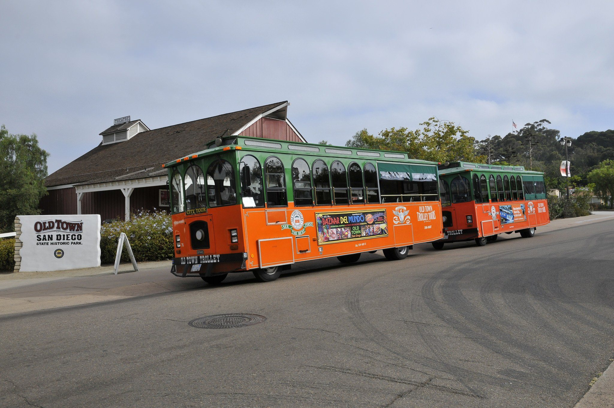 Old Town Trolley Tours in San Diego offer a hop-on and hop-off trolley experience.