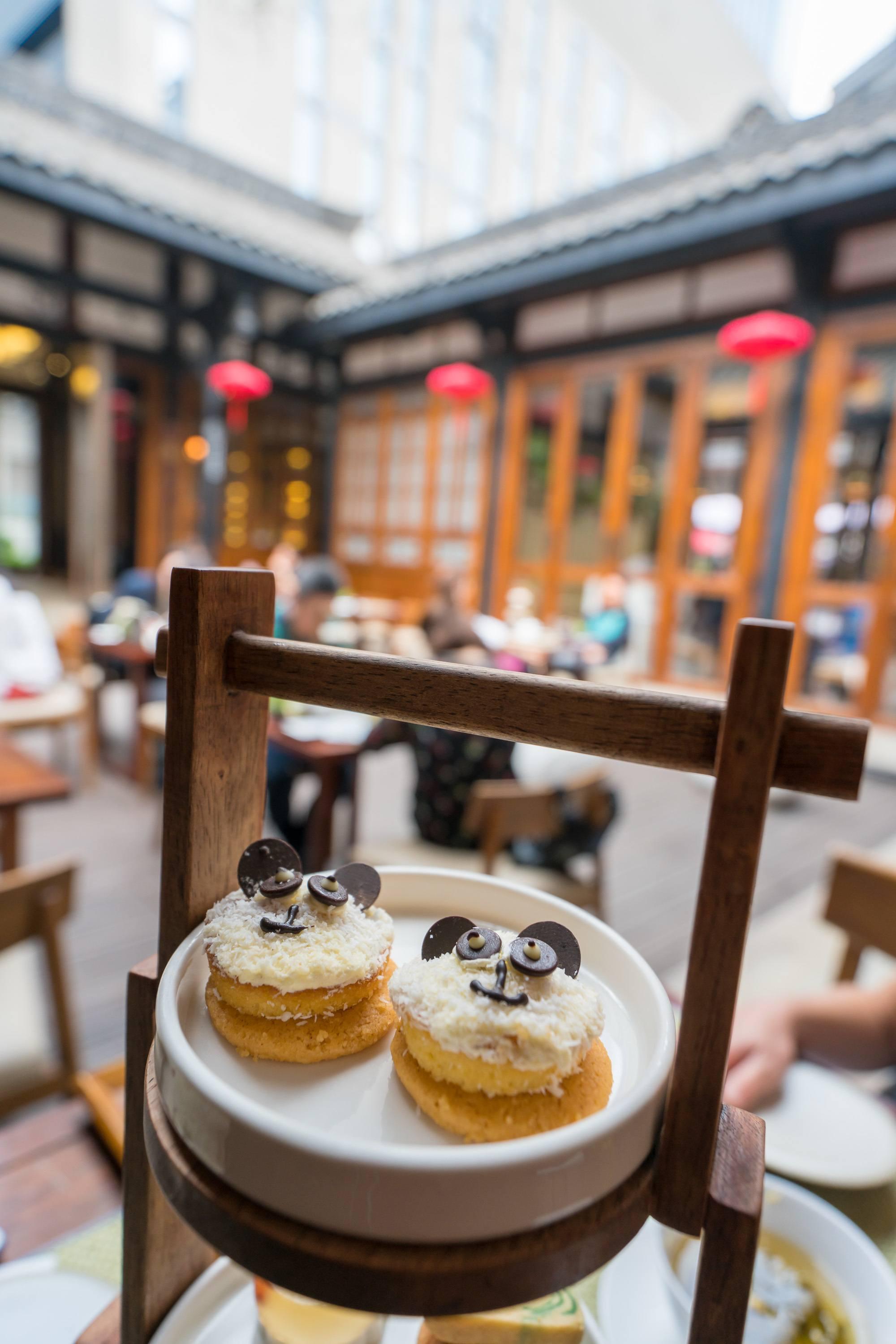 Don't miss the panda tea set at Mi Xun teahouse at Temple House in Chengdu.