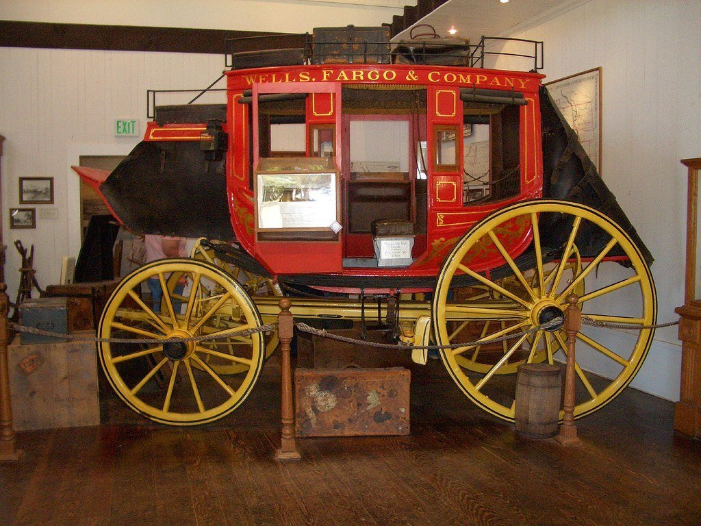 The Wells Fargo Museum in San Diego's stagecoach.