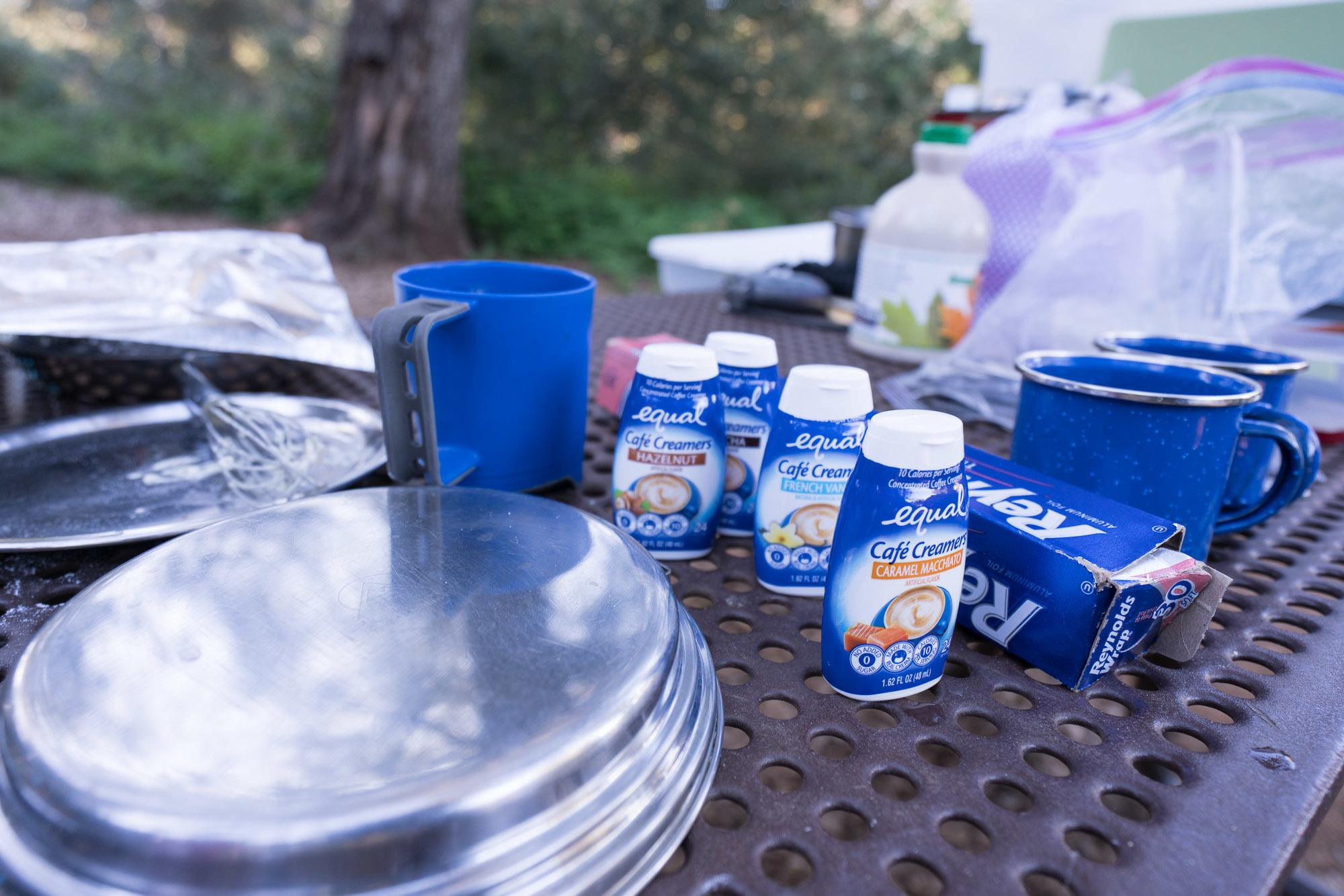 Equal Cafe Creamers are perfect for camping