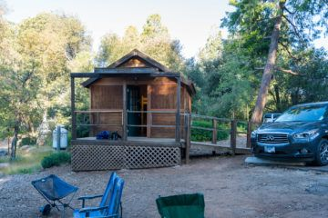 A cabin at William Heise campground in Julian, California
