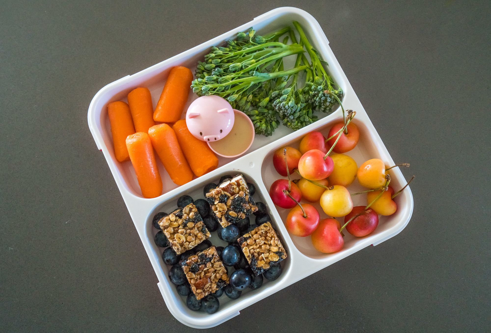 Portioning snacks and meals is part of a mindful snacking routine.