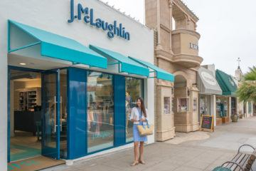 J.McLaughlin is a new La Jolla store with great quality clothes and a wrinkle-free fabric.