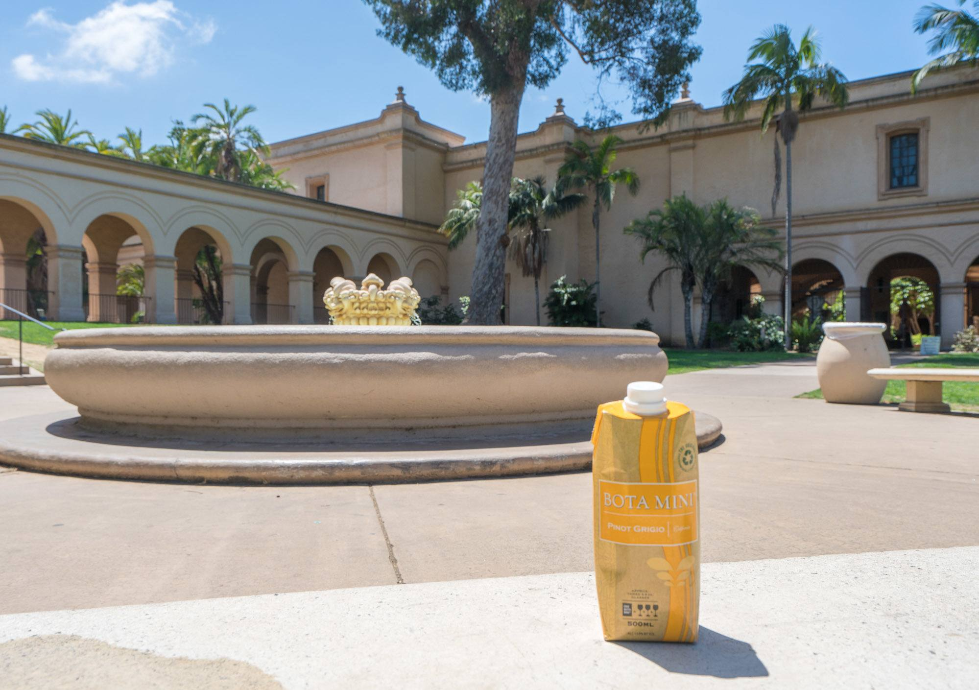 Bota Box Mini wine at Balboa Park in San Diego