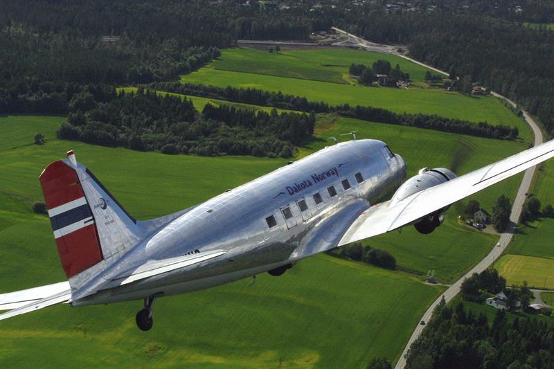 Dakota plane tour over the Oslofjord in Norway