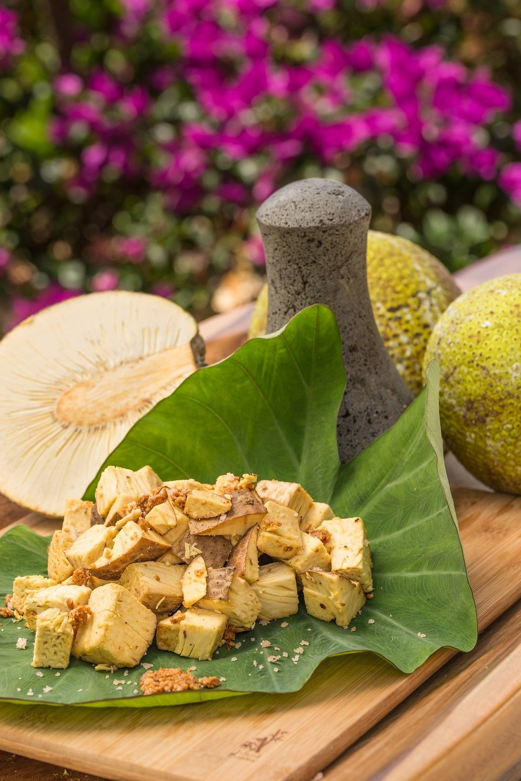 Breadfruit is incredibly popular in Asia but also in Hawaii where it is called ulu.