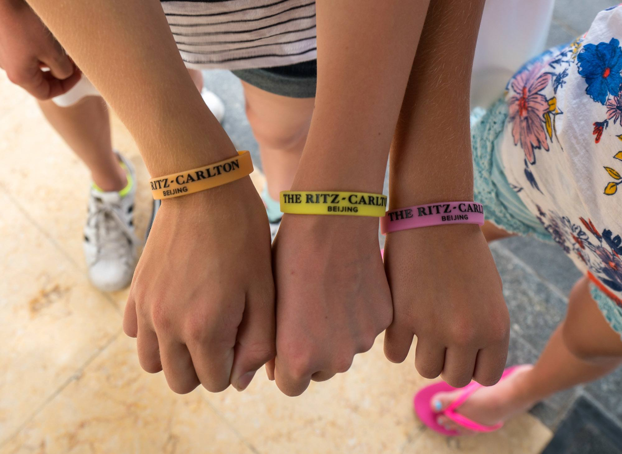 Ritz Kids wristbands at The Ritz-Carlton, Beijing