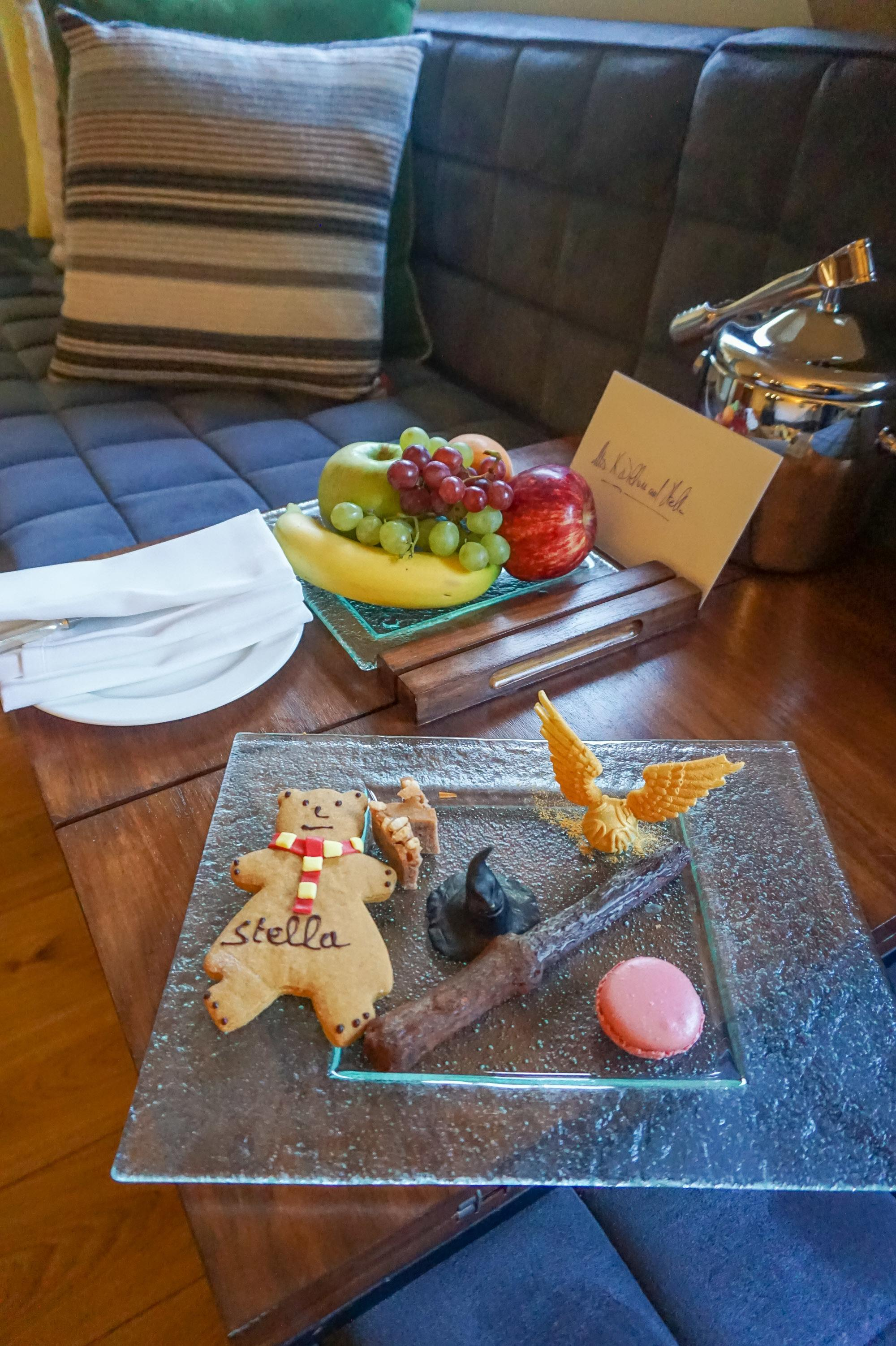 A Harry Potter welcome amenity at Brown's Hotel in London.