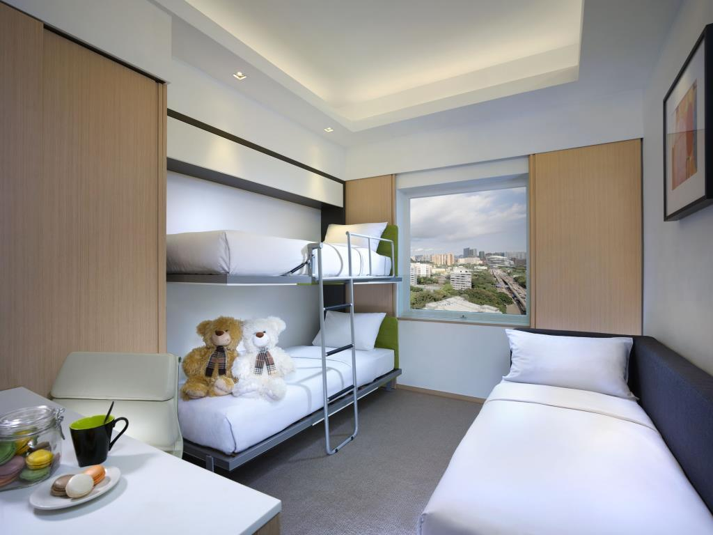 Eaton Hong Kong has several types of family rooms.