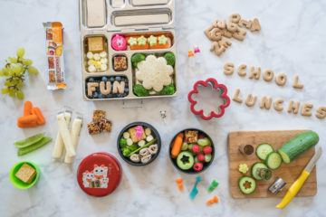 An everyday school bento lunch is easier if you make yours at the same time!