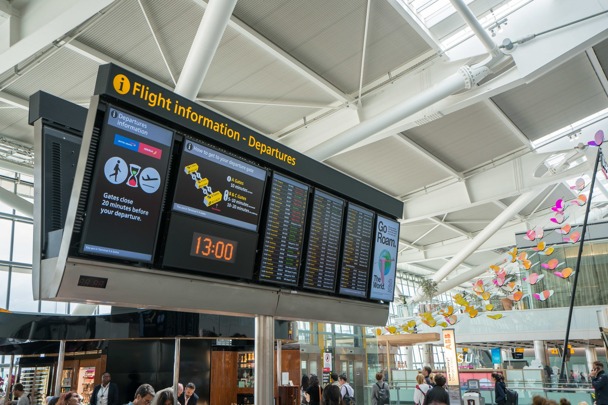 Go shopping between flights at Heathrow Airport's Terminal 5.