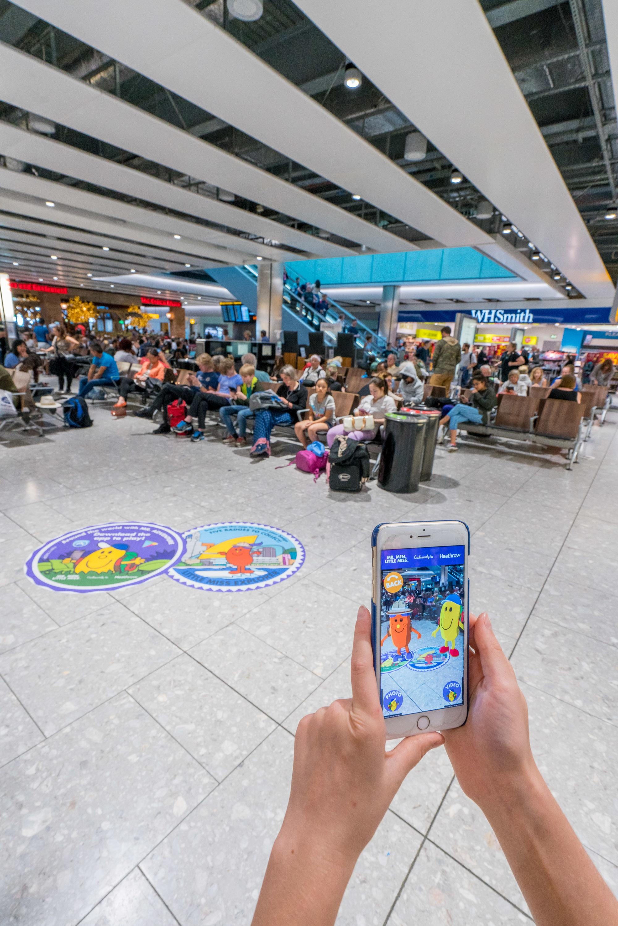 Kids will love playing the new Around the World with Mr. Adventure app at Heathrow Airport.