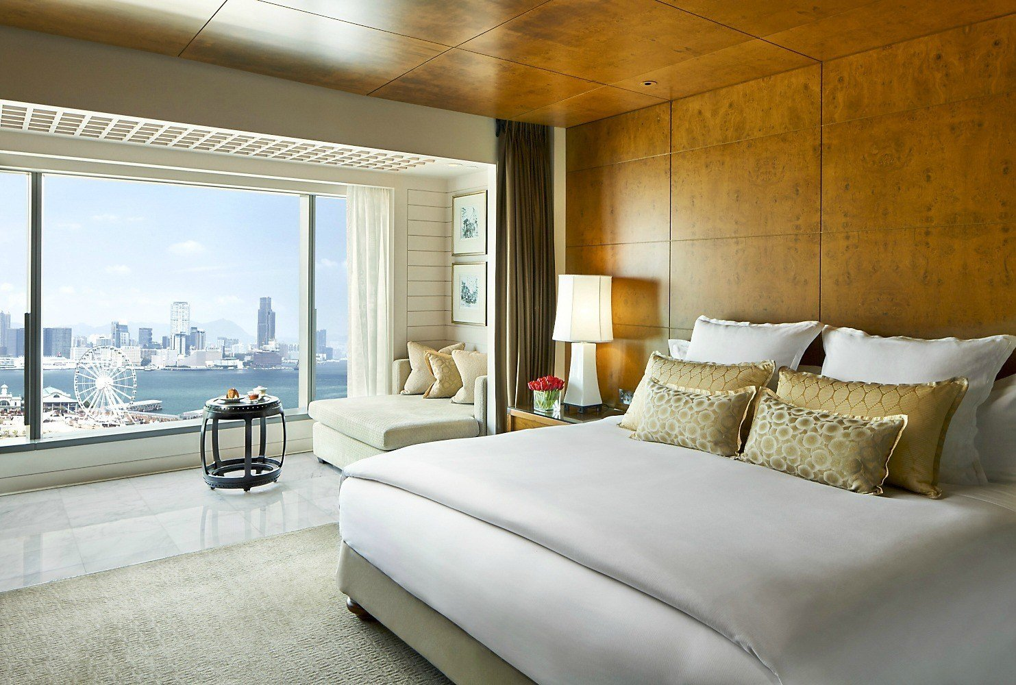 A harbour view room at Mandarin Oriental, Hong Kong